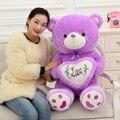 Teddy Bear Soft Doll Plush Toy Purple Love Bear Stuffed Animal Large Creative Bear Hold the Heart birthday gift 50cm&70cm 1pc