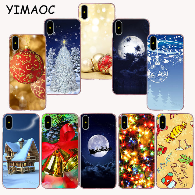 51cf97bf989a YIMAOC 232z New Year Christmas Soft TPU Silicone Case for iPhone X r s Xr  Xs Max 8 7 6S 6 Plus 5 5s SE