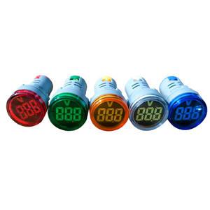 Voltmeter Indicator-Lamp AD16 Green 22MM Yellow Blue Red Display 60-700V Digital AC
