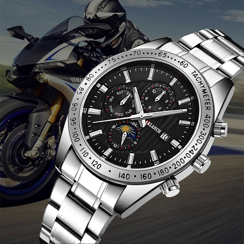 Men 39 s Watch Fashion Creative Business Quartz watch montre homme Clock Stainless Steel Waterproof Watch Men Relogio Masculino in Quartz Watches from Watches