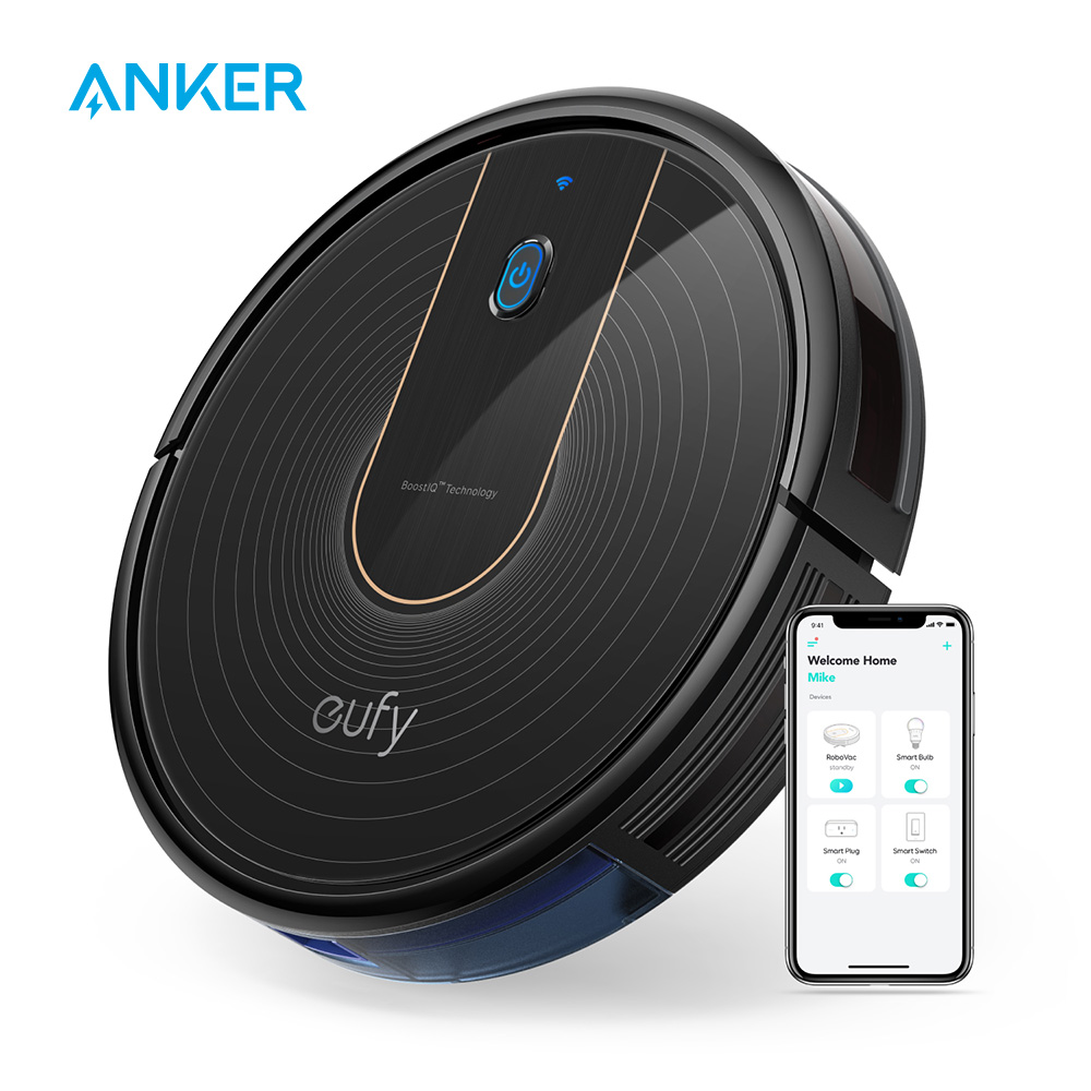 Eufy [BoostIQ] RoboVac 15C,Wi-Fi,1300Pa Super-Thin,Quiet, Self-Charging Robot Vacuum Cleaner For Hard Floors&Medium-Pile Carpets