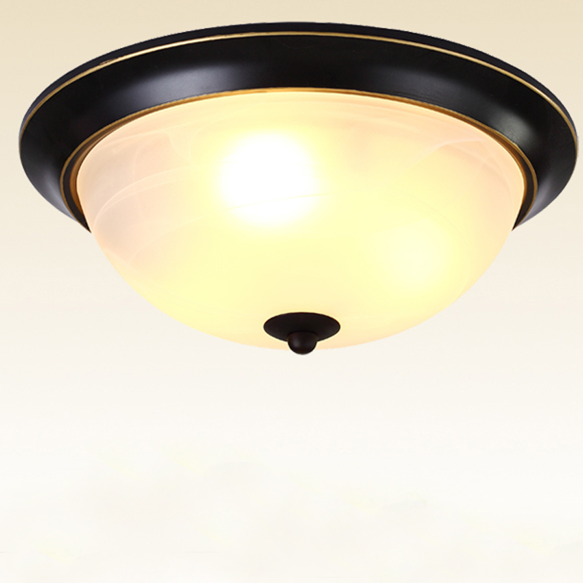 American style LED ceiling lamp dia 33cm/38cm glass lampshade iron ceiling lamp for bed room study room balcony aisle lighting tiffany glass ceiling mediterranean style balcony aisle lighting dia 15 cm h 15 cm