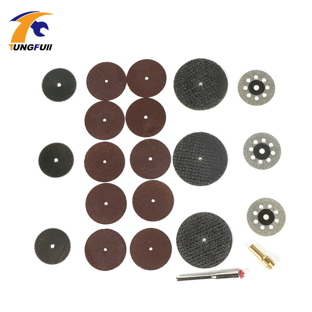 цена на Tungfull woodworking Accessories Delta Cutting Discs Set DIY Woodworking Tool Set Dremel Style Accessories For Rotary Tools