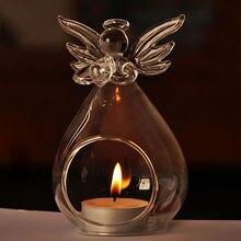 Горячая Распродажа модный креативный Ангел стеклянный кристалл подвесной чайный светильник подсвечник для дома комнаты вечерние декоративный подсвечник для хранения