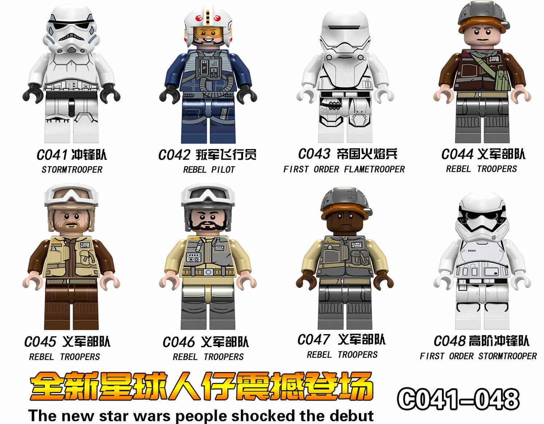 star wars Figures Luke Leia Trooper Han Solo Maz Anakin Darth Vader Yoda Obi Wan weapon Figure Building Blocks Toys for Children