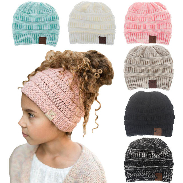 f7696f0ac0d75 Winter Hats Beanie Warm Hat Knit Beanies Slouchy Hats for Girls Boys Cute  Knitted Skullies Cap