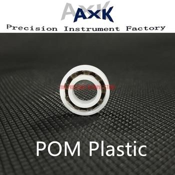 2019 Pom Bearing 6000 6001 6002 6003 6004 6005 6006 6007 (5 uds) bolas de vidrio jaula de Nylon Rodamientos de bolas de plástico rodamiento