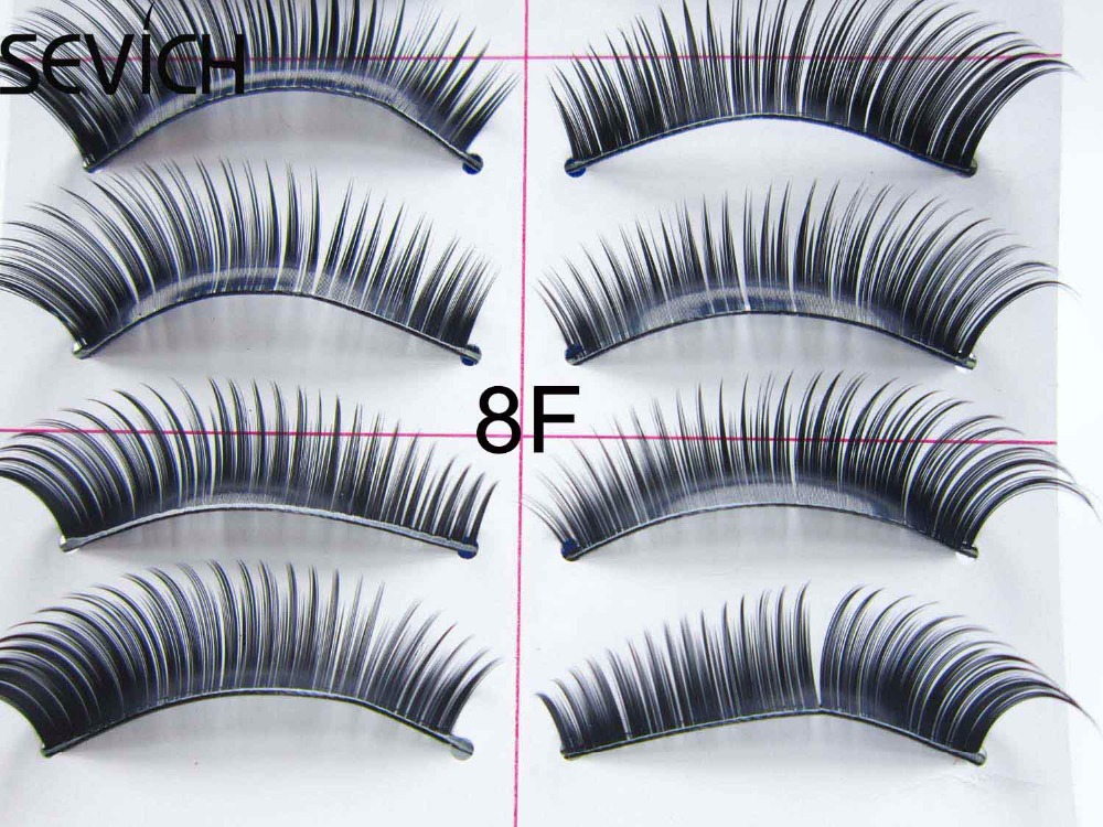 10 Pairs Beauty Natural Madeup Thick False Eyelashes Long 3D Individual Cross Eye Lashes Extensions Human Hair No-Mint Lashes