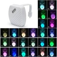 24-Colors Motion Sensor Toilettes Veilleuse Accueil Toilettes Salle De Bains Corps Humain Automatique Activé Par le Mouvement Capteur Seat Nuit Lampe