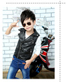 infant leather jacketsGirls vest  spring and autumn 2016 new thin children Pima folder jacket big virgin boy cardigan waistcoat