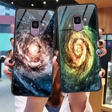 Закалённое Защитное стекло для samsung Galaxy S9 S8 S10 плюс Примечание 8 9 Lite силиконовая крышка для Galaxy Note8 чехол для телефона ЗВЕЗДА пространство покорить