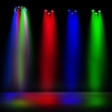 DMX512 Master/Slave RGB 18W Led par light stage disco dj event Christmas decoration lights,  entertainment, pure colors
