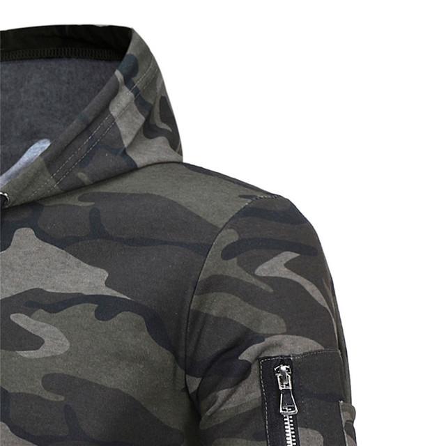 Feitong Mens' Causal Hoodies Sweatshirts Autumn Winter Male Long Sleeve Camouflage Hooded Sweatshirt Tops sudaderas para hombre