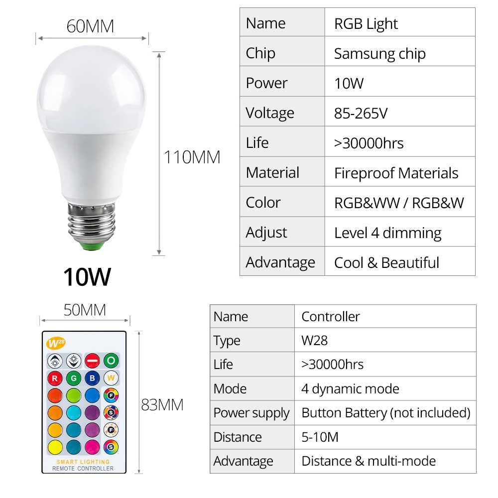 85-265V E27 lampe à LED rvb 15W Bluetooth Wifi APP contrôle ampoule intelligente 10W RGBW RGBWW ampoule IR télécommande éclairage à la maison