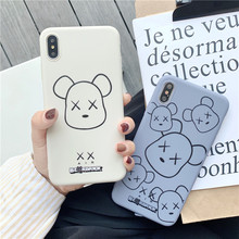 Swtengyue case For Coque Iphone 7 6 6s 8 plus Soft TPU Silicone Violent Bear Phone Cover Cases X XS XR max