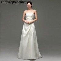 Forevergracedress Elegant Long Wedding Dress A Line Sweetheart Beaded Satin Lace Up Back Bridal Gown Plus