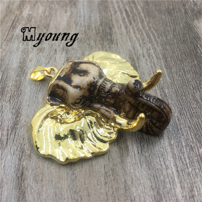 Mammoth Skull Pendants Elephant Skull Boho Ethnic pendant Charms For DIY Jewelry Making MY1925