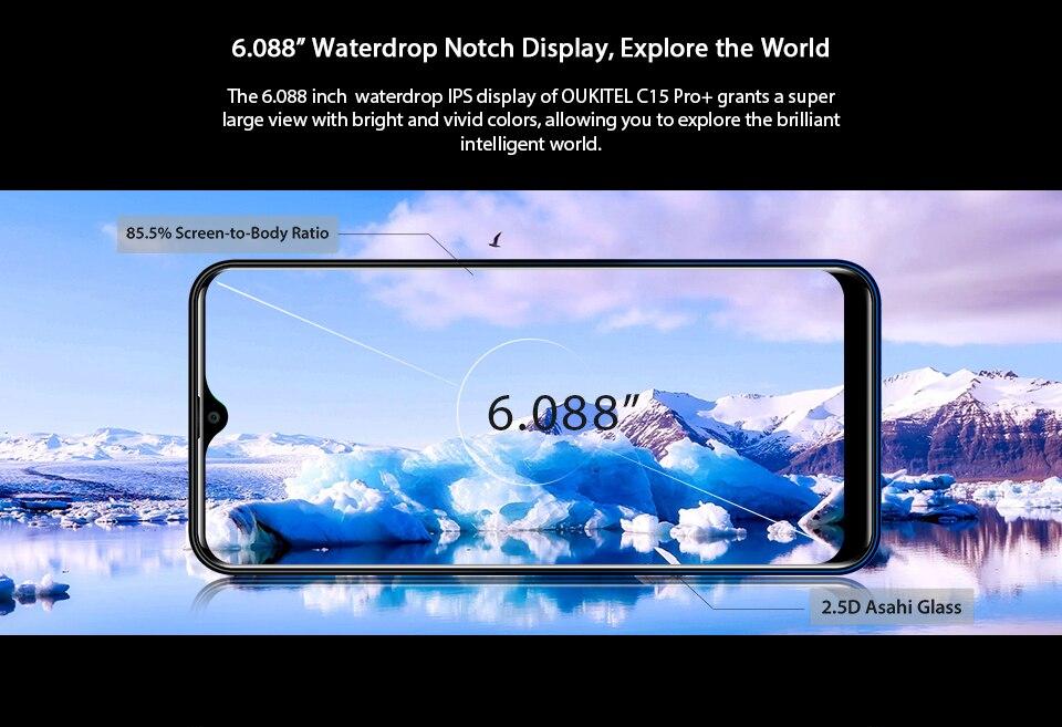 HTB1QFWBXp67gK0jSZPfq6yhhFXac OUKITEL C15 Pro+ 6.088'' 19:9 Android 9.0 Cellphones 3GB 32GB MT6761 Waterdrop 4G Smartphone Fingerprint Face ID 5G WiFi Phone