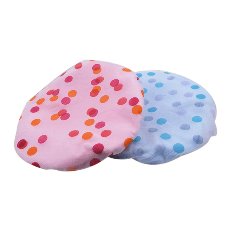Bathroom Accessories Waterproof Shower Cap Elastic Band Hat Bath Cap Cute Cartoon Shower Hats Random Color