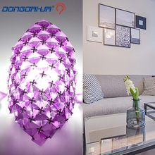 Artistic Stainless Steel Modern Led Crystal Wall Light Home Lighting Wall Sconce Lampara Pared Arandela Clear/Purple/Amber(China)