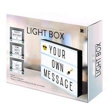 Advertising Lights LED DIY Letter Lightbox  A6 Combination Light Box Night Lamp Luminous Box Nightlight for Selling Meeting
