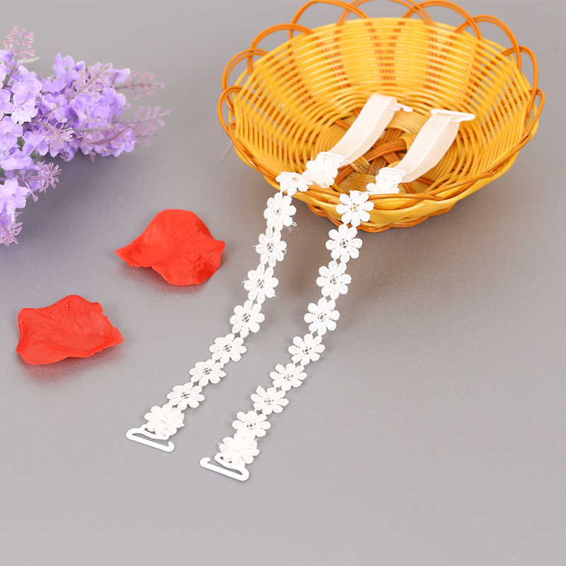 Women Bra Accessories Crochet Floral Lace Bra Strap Anti slip Elastic Adjustable Belt Shoulder Straps for Bridal Wedding Party in intimates 39 accessories from Underwear amp Sleepwears