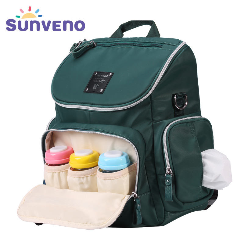 New Arrival SUNVENO Fashion Diaper Bag Backpack High Capacity Nappy Bag Baby Travel Backpack with Insulation Pocket new arrival sunveno fashion diaper bag backpack high capacity nappy bag baby travel backpack with insulation pocket