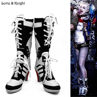 Batman Suicide Squad Harley Quinn Movie Cosplay Costumes Shoes Boots High Heels Custom Made For Adult