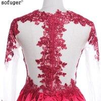 Beautiful Weeding Dress Long Sleeve Scoop Lace Wedding Dresses Cheap Detachable Elegant A Line Weeding Gowns
