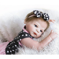 NPKCOLLECTION Silicone Reborn Baby Dolls Newborn Baby Alive Bonecas with Doll Clothes,52 CM Real Baby Dolls Toys for Children