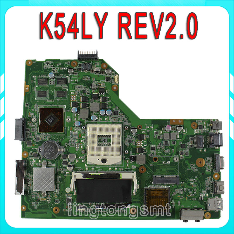 K54LY for ASUS motherboard X54H K54HR K84LY REV:2.0 HM65 mainboard 100% tested free shipping for asus m50sr laptop motherboard m50vm rev 2 0 motherboards 100% tested free shipping