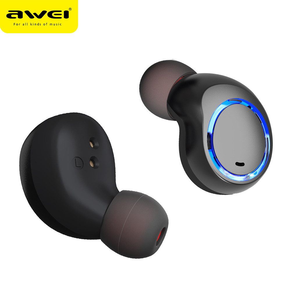 AWEI T3 Twins Wireless Auricolari Auricolare BT5.0 Cuffia Con Box Di Ricarica Jun14