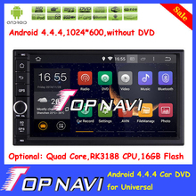 Newly 7 inch Pure Android 4.4.4 car radio player for universal with Free Map Radio Bluetooth Capacitive Touch Screen without DVD