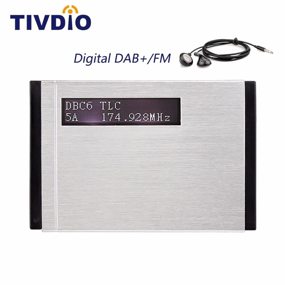 Tivdio t101 portátil dab +/dab receptor rádio fm rds bolso digital dab receptor com fone de ouvido f9204