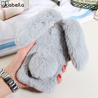 Cute Rabbit Fluff Soft Phone Case For Xiaomi Redmi 4A Redmi4A Red Rice 4A 5 0