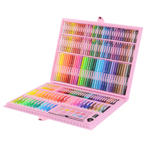 163/196pcs Kids Art Set Crayon Watercolor Painting Brush Pen Set Artist Tool Kit Children Toy Gifts Box Art Supplies недорого