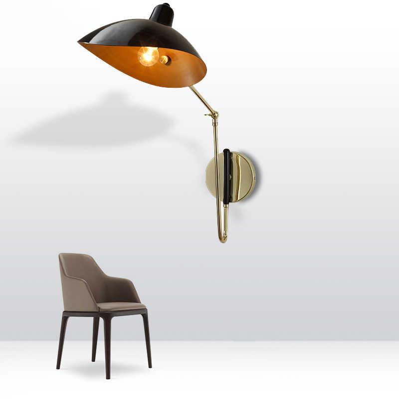 Ретро Лофт винтажный настенный светильник с регулируемой рукояткой, железное освещение, светильник для спальни, прикроватная гостиная, кабинет, кафе, бра для лофт, Декор