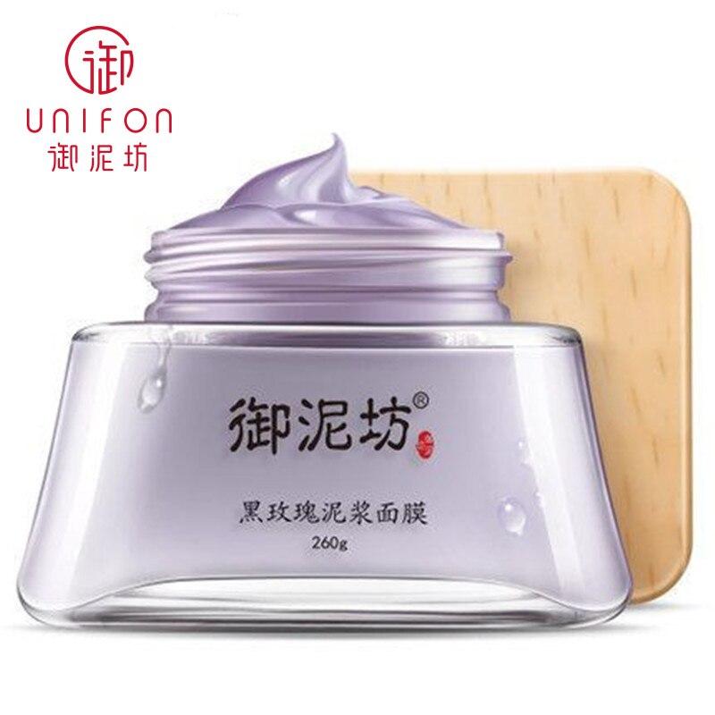 YUNIFANG/UNIFON Noir Rose masque de boue 260g Minérale Fraîche Nettoyant Huile contrôle, Éclairer, Blanchiment