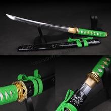 High Quality Full Handmade T10 Carbon Steel Clay Tempered Samurai Tanto Sharp Edge