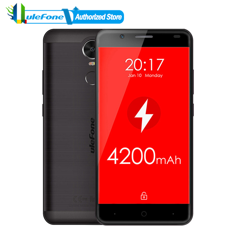 bilder für Ulefone Tiger 4G Mobile Phone 4200mAh Android 6.0 MT6737 Quad Core 16GB Metal Body 5.5 inch HD Screen Fingerprint Smartphone