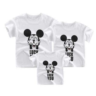 Camisetas familiares que combinan padre madre niños camiseta hija y Madre a juego ropa niños ropa de verano niñas camisetas de manga corta