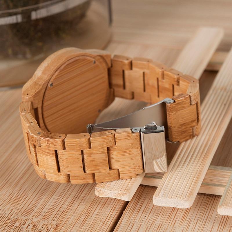 relogio masculino BOBO BIRD Wood Watch მამაკაცები - მამაკაცის საათები - ფოტო 2
