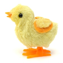 Yellow Fuzzy Chicken Toy 1Pcs Children Kid Baby Walking Chick Educational Funny Toy Wind-Up For Easter Developmental Baby Toys