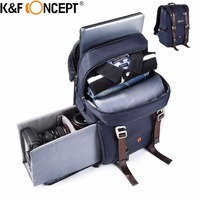 K F CONCEPT Camera Backpack Waterproof Large Capacity For 14 Laptop Travel Bag Case Side Compartments