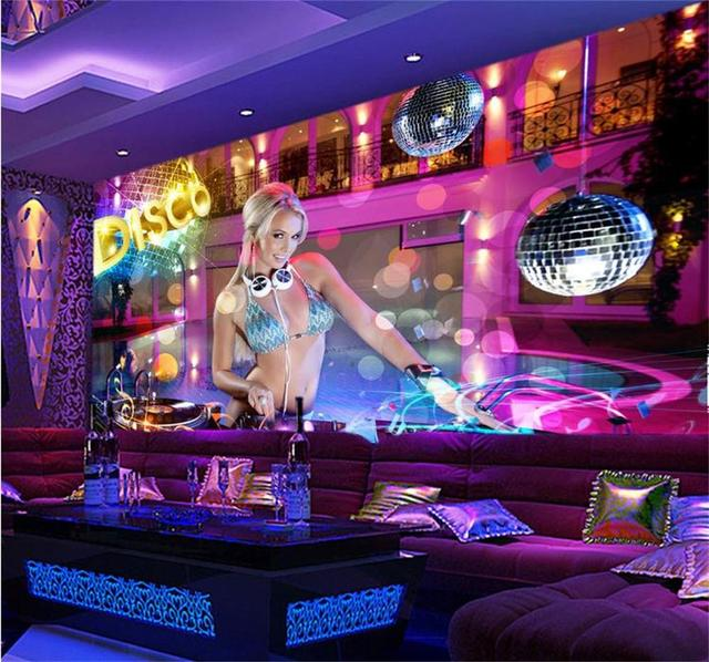 3D Wallpaper Custom Photo Wall Paper Nightclub Sexy Bikinis GRIL Mural TV