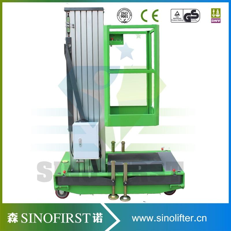 4m-12m Aluminum Alloy One Mast Lift  Tabble Platform  Scissor Lift