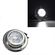 1 шт. 18 Вт Светодиодная подводная Лампа 12В IP 68 из нержавеющей стали для морской яхты лампа для лодки синий белый