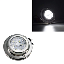 1 stks 18 w LED Onderwater Licht 12 v IP 68 Roestvrij Staal Marine Yacht Boot Lamp Blauw Wit
