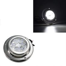 цена на 1Pcs 18W LED Underwater Light 12V IP 68 Stainless Steel Marine Yacht Boat Lamp Blue White