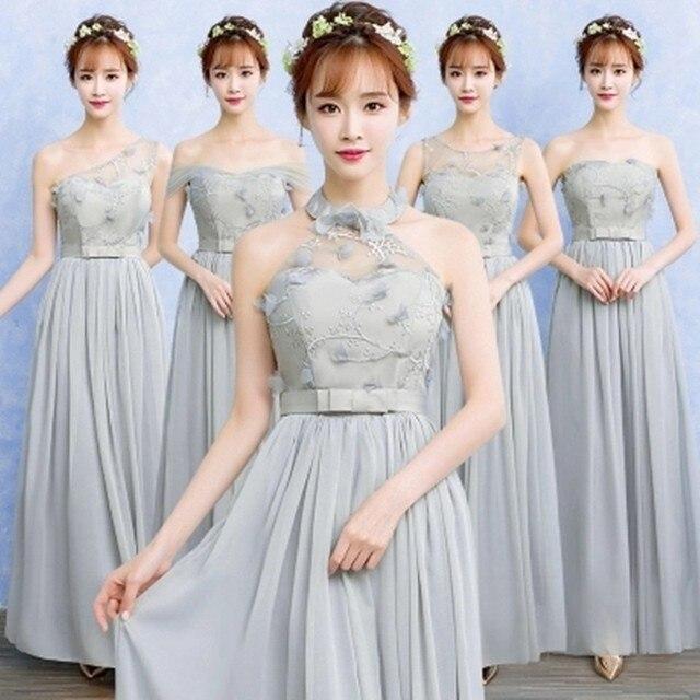 3981c77c3a9 Robe Demoiselle D honneur pas cher 5 couleur dentelle mousseline de soie  Convertible robes de